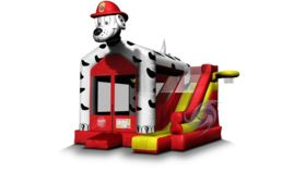 Image of a Dalmatian Bounce House Combo
