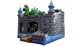 Image of a Dragon Bounce House Combo