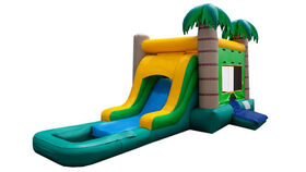 Image of a Water Bounce and Slide Tropical