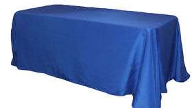 """Image of a 90"""" x 156"""" Rectangle Polyester Tablecloths ~ Royal Blue"""