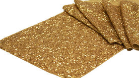 "Image of a 12"" x 108' Sequin Runners Gold"