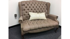 Image of a Vintage Tufted Sweetheart Sofa