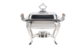 Image of a Fancy Stainless Steel Chafing Dishes Square Lift Top 4 qt.