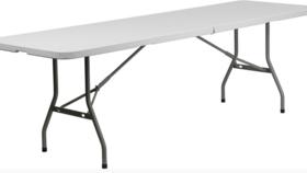 Image of a 8' Rectangle Bi-Fold Folding Table