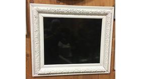Image of a Chalkboard, Vintage Frame ~ White