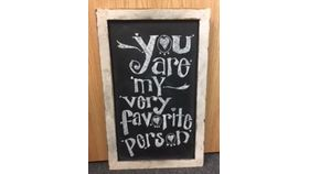 Image of a Chalkboard, Wood Frame ~ White