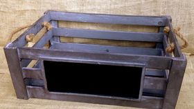 Image of a Crate ~ Wood, Chalkboard on Long Edge