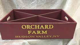 Image of a Crate ~ Divided Crated Orchard Farm ~ Red