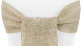 "Image of a 7""x108"" Burlap Chair/Table Tie"