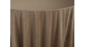 "Image of a BBJ 120"" Round Tablecloths ~ Walnut Velvet"