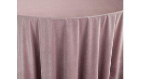 "Image of a BBJ 120"" Round Tablecloths ~ Velvet Rose Quartz"