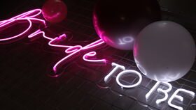 "Image of a ""Bride To Be"" Neon Sign"