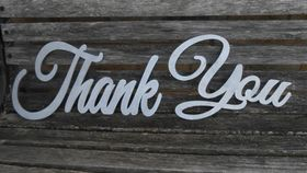 "Image of a ""Thank You"" Cutout"