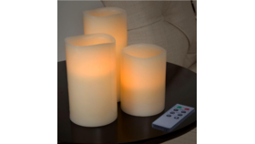 Image of a Battery Operated Pillar Candle Set