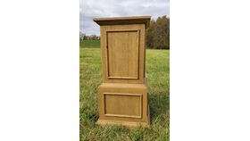 Image of a Tall Wood Pedestal