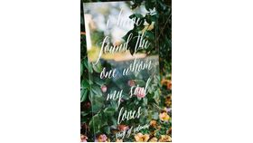 "Image of a ""I Have Found the One..."" Acrylic Sign"