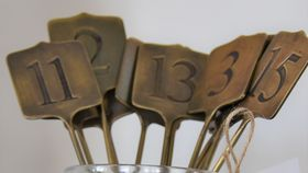 Image of a Brass Table Numbers Set