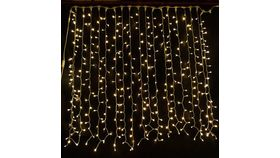 Image of a Curtain String Light Backdrop