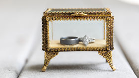 Image of a Antique Glass Jewelry Box