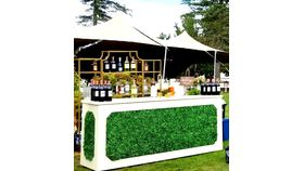 Image of a Boxwood and linen bar