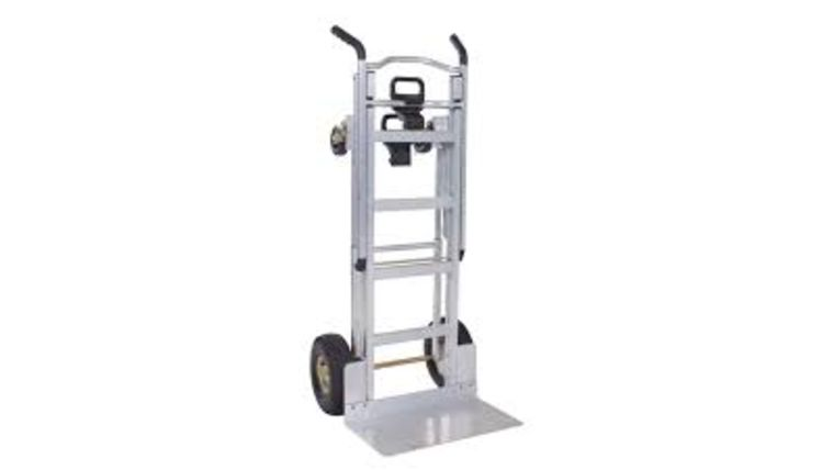 Picture of a Cosco 1000 lb. 3-In-1 Aluminum Assisted Hand Truck with Flat Free Wheels (LA)