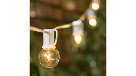 Image of a 25 FT. White Bistro String Lights (LA)