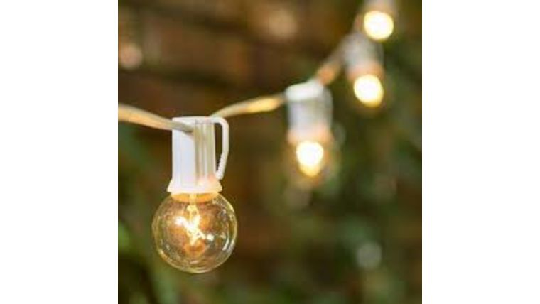 Picture of a 25 FT. White Bistro String Lights (LA)