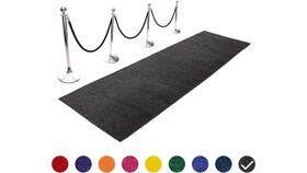 Image of a 3' x 10' Black Carpet Aisle Runner Rental