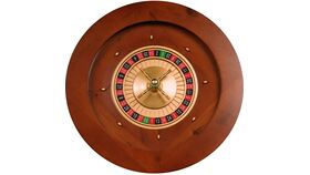"Image of a 19.5"" Wood Roulette Casino Wheel Rental"