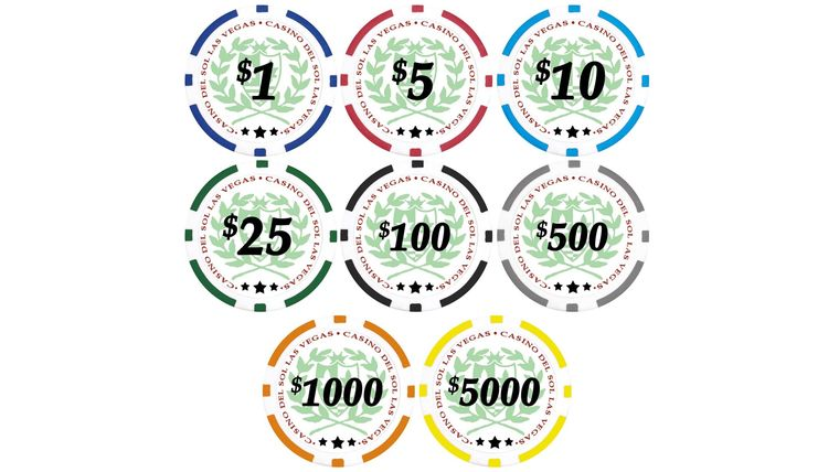Picture of a $5000 Yellow Poker Chip