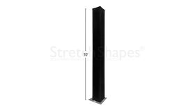 """Image of a 10' Black 12"""" Box Spandex Truss Sleeve Cover Rental"""
