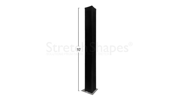"""Picture of a 10' Black 12"""" Box Spandex Truss Sleeve Cover Rental"""