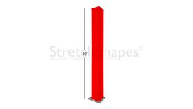 Image of a 15' Red Spandex Truss Cover Rental