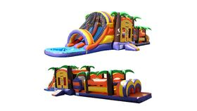 Image of a 53' Extreme Paradise Inflatable Obstacle Wet/Dry Rental