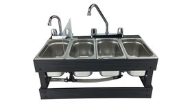 Image of a 4 Compartment Tabletop Portable Cold Sink Rental