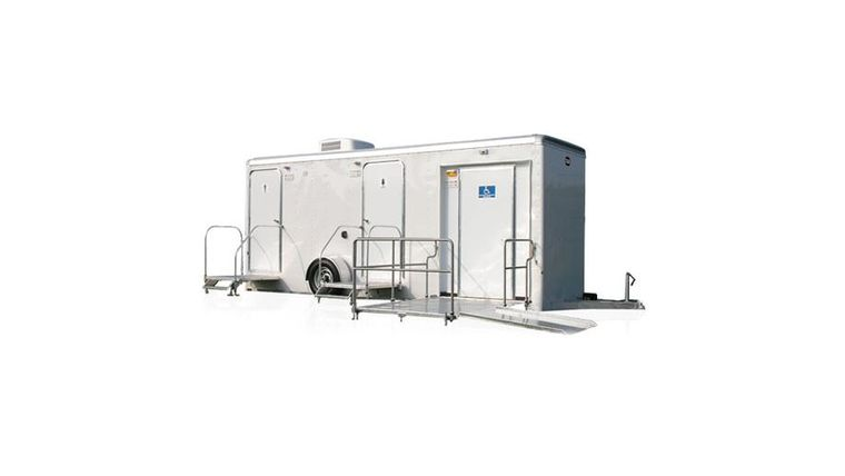 Picture of a 2 Stall + ADA Executive Restroom Trailer