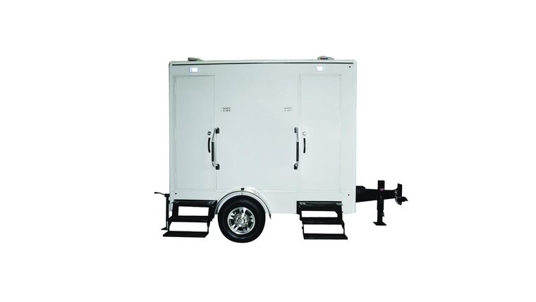 Picture of a 2 Stall Executive Restroom Trailer W/AC