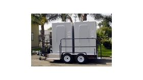 Image of a 2 Stall VIP Restroom Trailer w/o AC or Heat Rental