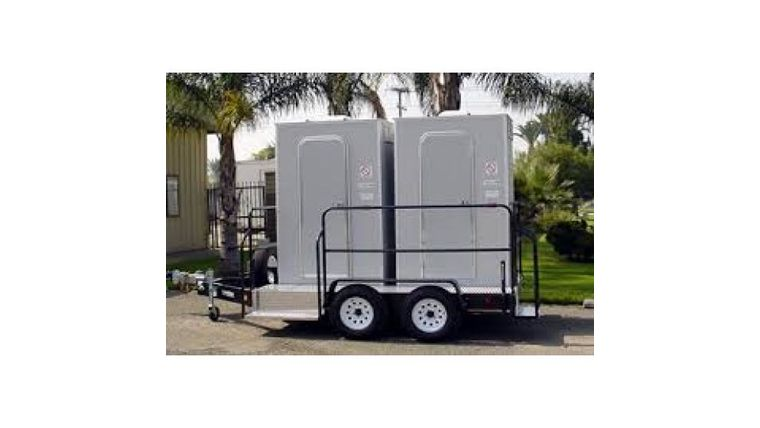 Picture of a 2 Stall VIP Restroom Trailer w/o AC or Heat