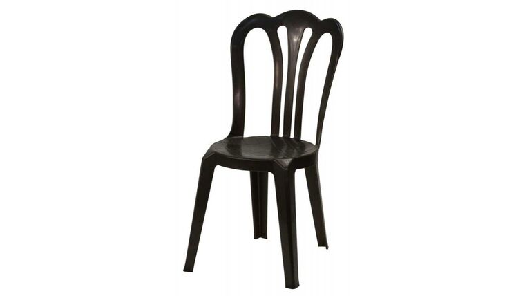 Picture of a Black Cafe Vienna Resin Bistro Stacking Chair