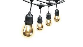 Image of a 48' Black String Clear C9 LED Light Bulb Feit 72031 Kit