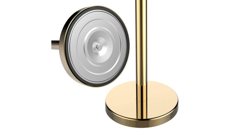 Picture of a Brass Finish Metal Stanchion Post Only Rental