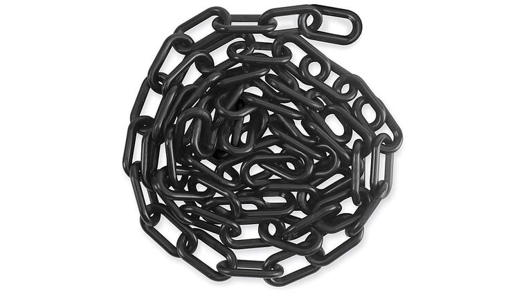 Picture of a 100' Black Plastic Stanchion Chain Rental
