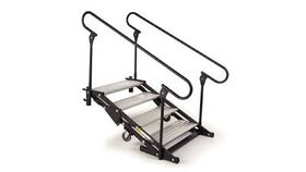 Image of a 8 Step Wenger Stagetek Articulating Stage Stairs w/Rail Rental