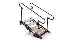 Image of a 4 Step Wenger Stagetek Articulating Stage Stairs w/Rail Rental