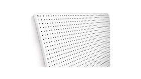 Image of a 4'h x 8'w Peg Board Prize Wall (White) Rental