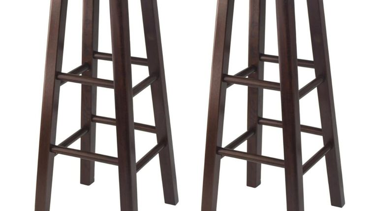 """Picture of a 29"""" Black Wood Square Leg Stool Rental"""