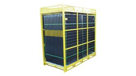Image of a 210' Black Full Pallet Of Perimeter Patrol Fencing Rental