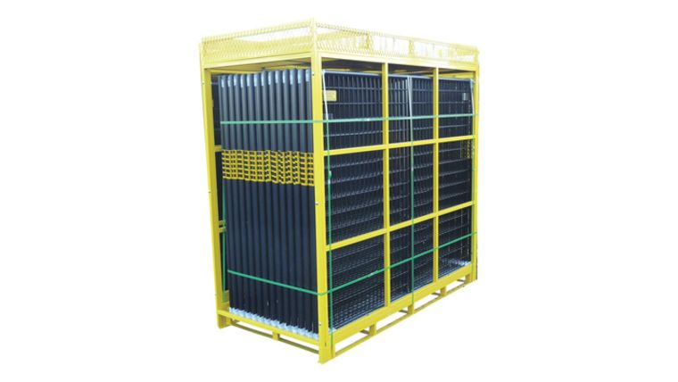 Picture of a 210' Black Full Pallet Of Perimeter Patrol Fencing Rental