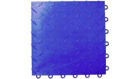 "Image of a 12"" x 12"" Blue ABS Diamond Garage Floor Tile Rental"